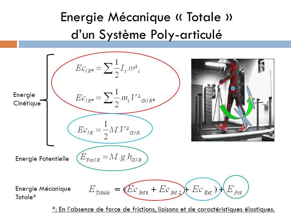 Energie Mécanique « Totale » d'un Système Poly-articulé