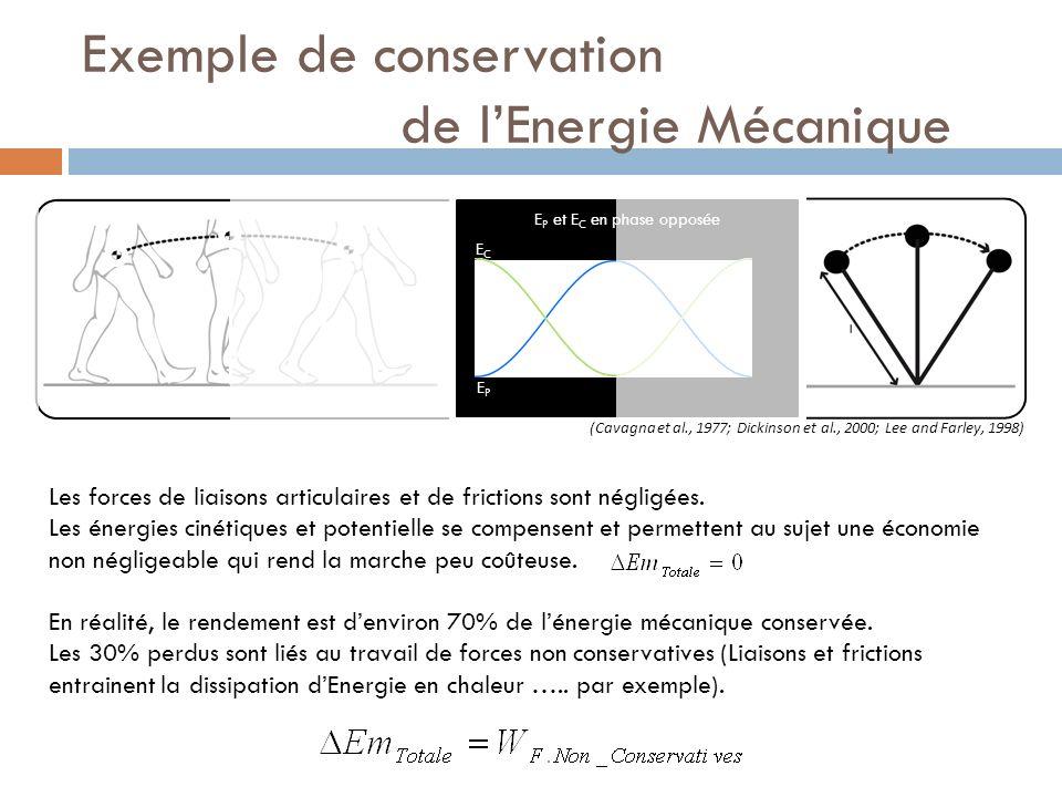 Exemple de conservation de l'Energie Mécanique