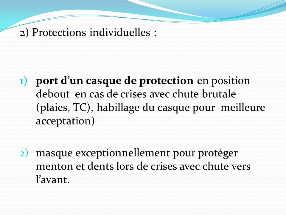 2) Protections individuelles :
