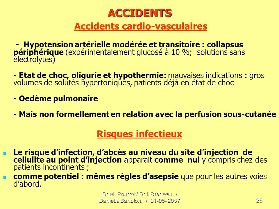 Accidents cardio-vasculaires
