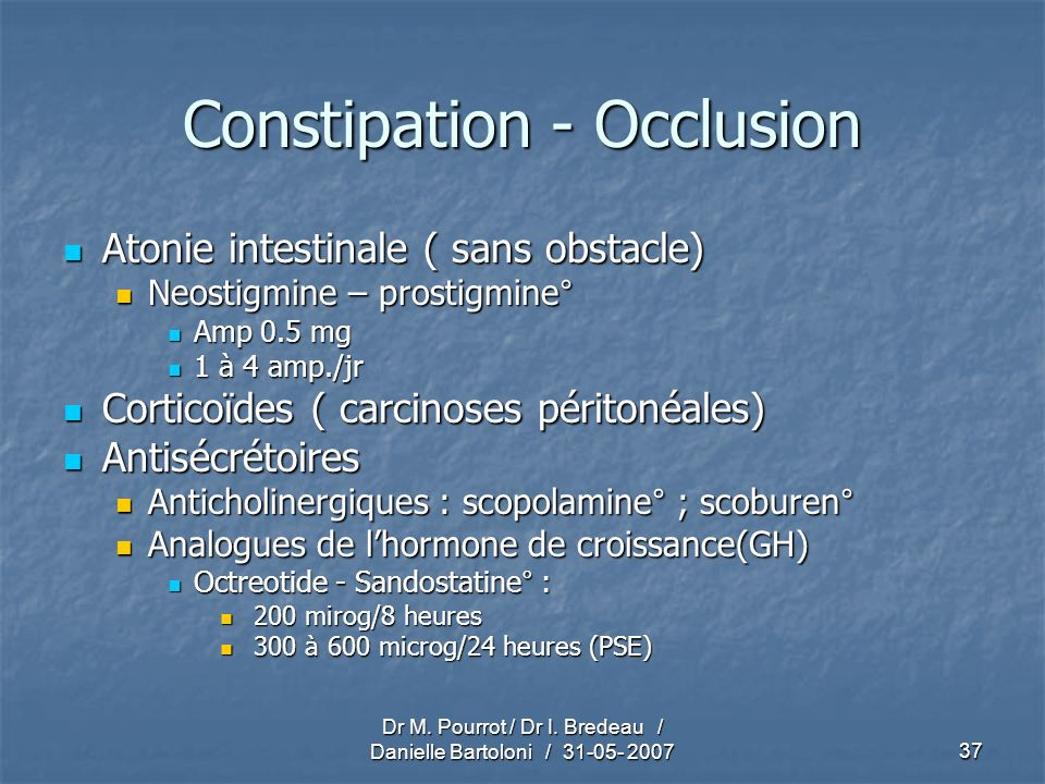 Constipation - Occlusion