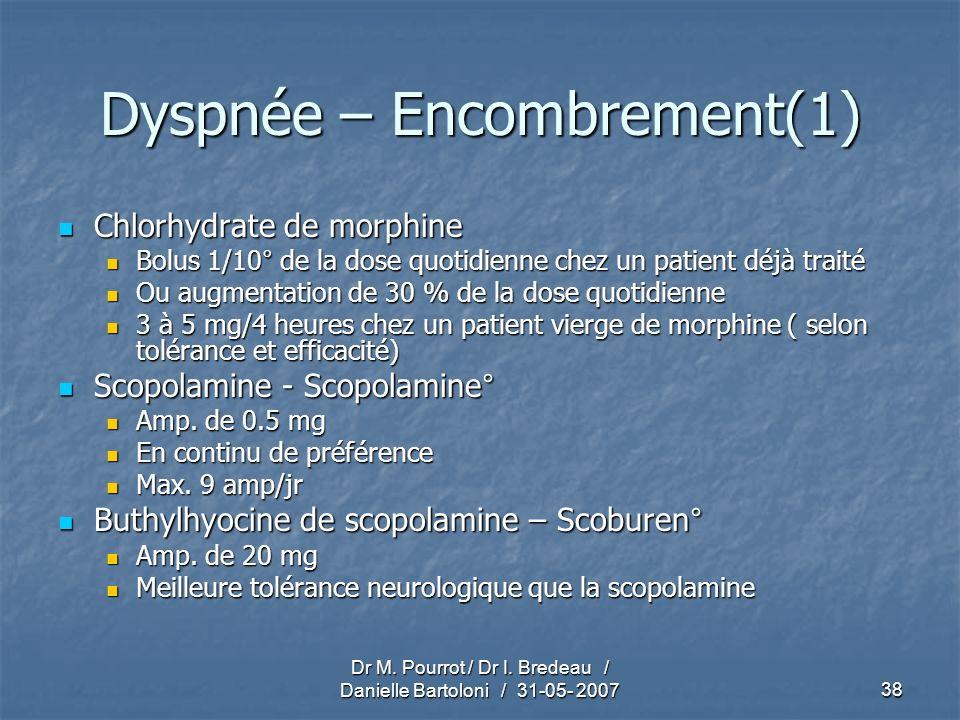 Dyspnée – Encombrement(1)