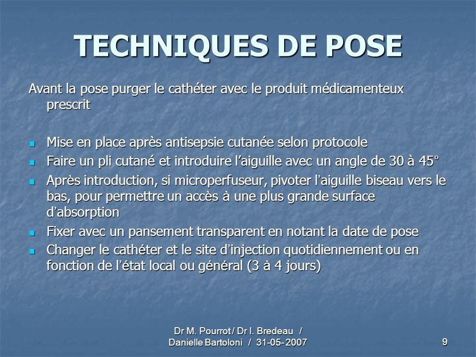 Dr M. Pourrot / Dr I. Bredeau / Danielle Bartoloni / 31-05- 2007