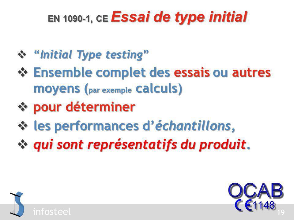EN 1090-1, CE Essai de type initial