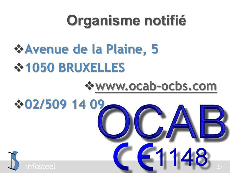 Organisme notifié Avenue de la Plaine, 5 1050 BRUXELLES