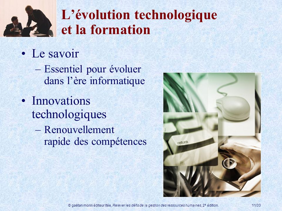 L'évolution technologique et la formation