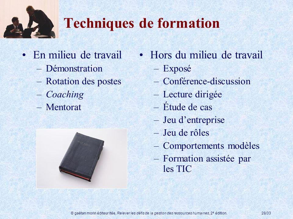 Techniques de formation