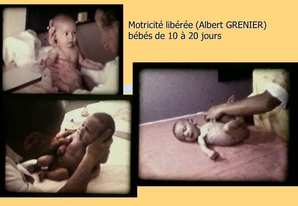 Motricité libérée (Albert GRENIER) bébés de 10 à 20 jours