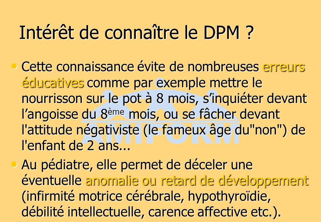 Intérêt de connaître le DPM