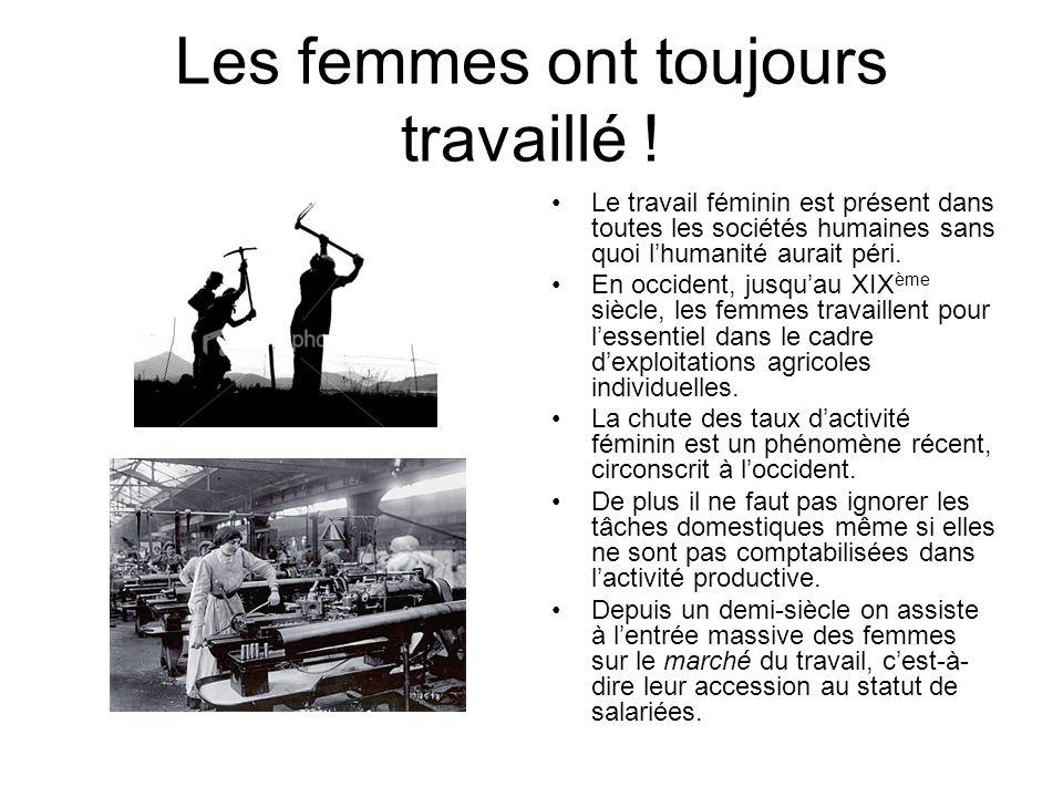 Les femmes ont toujours travaillé !