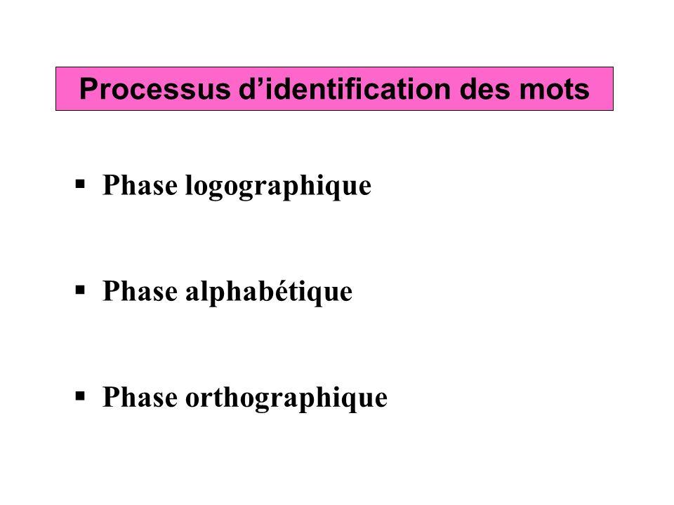 Processus d'identification des mots