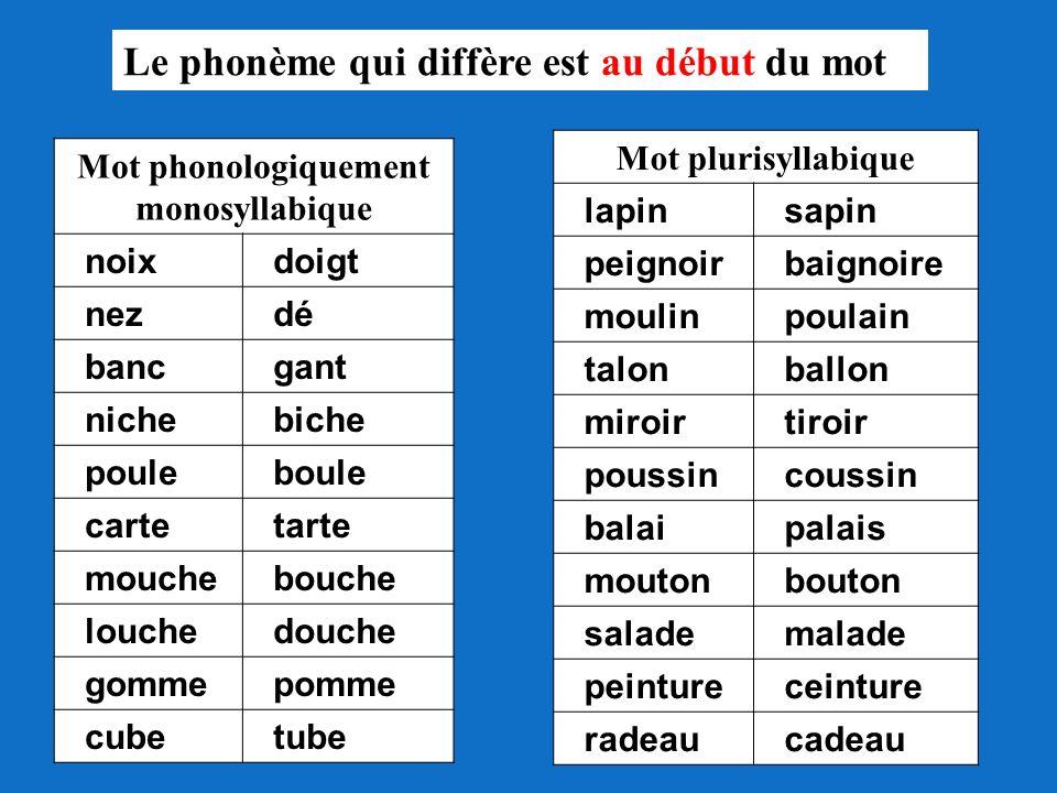 Mot phonologiquement monosyllabique