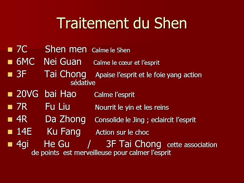 Traitement du Shen 7C Shen men Calme le Shen