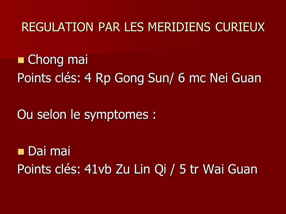 REGULATION PAR LES MERIDIENS CURIEUX