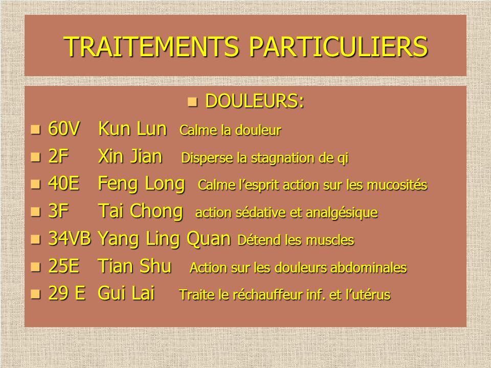TRAITEMENTS PARTICULIERS