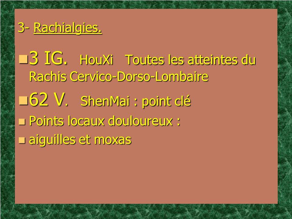 3 IG. HouXi Toutes les atteintes du Rachis Cervico-Dorso-Lombaire