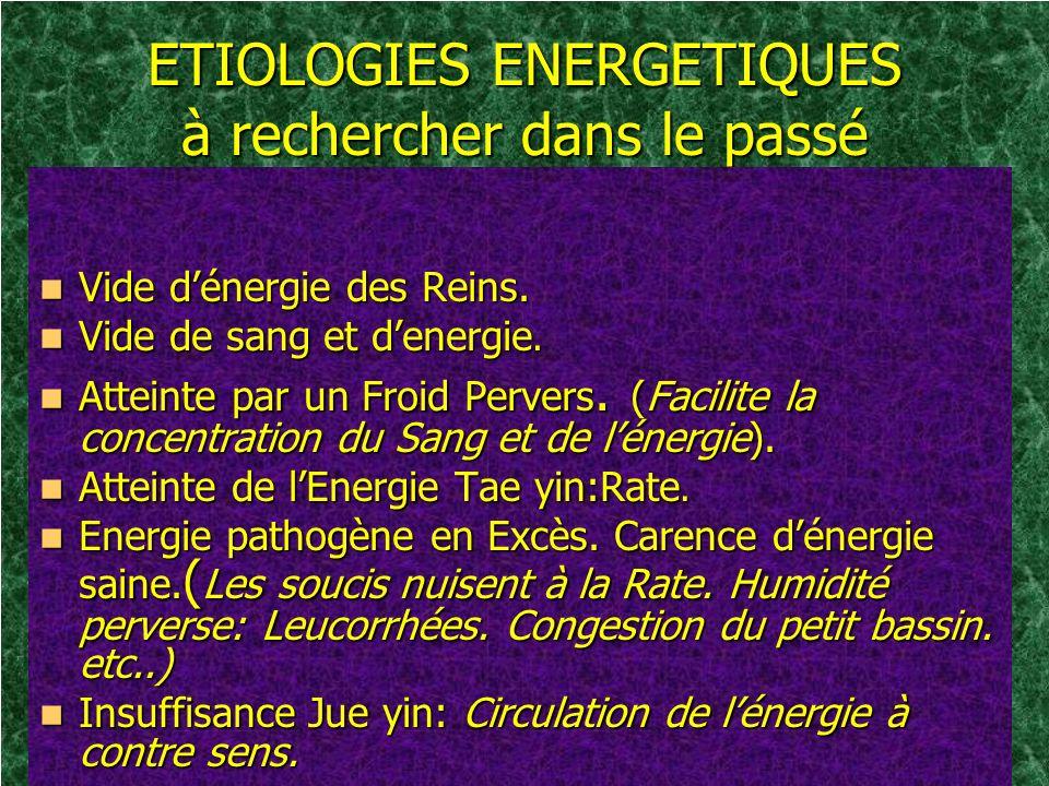 ETIOLOGIES ENERGETIQUES à rechercher dans le passé