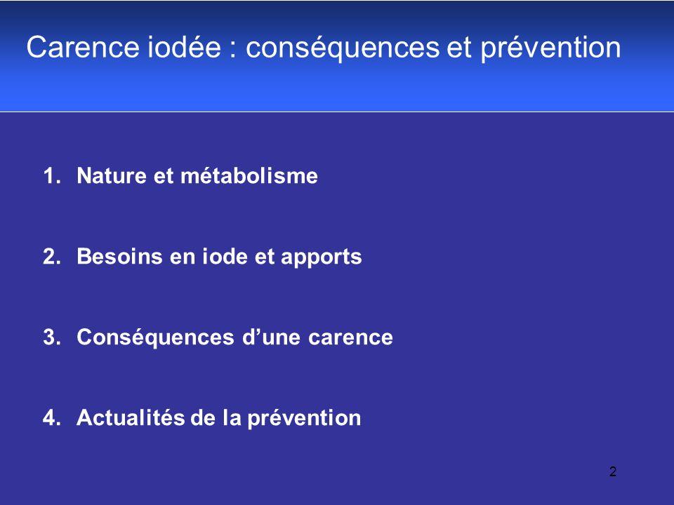 Carence iodée : conséquences et prévention