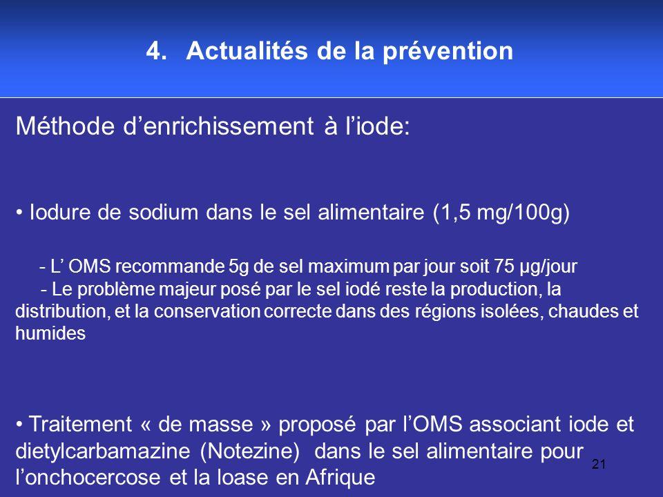 4. Actualités de la prévention