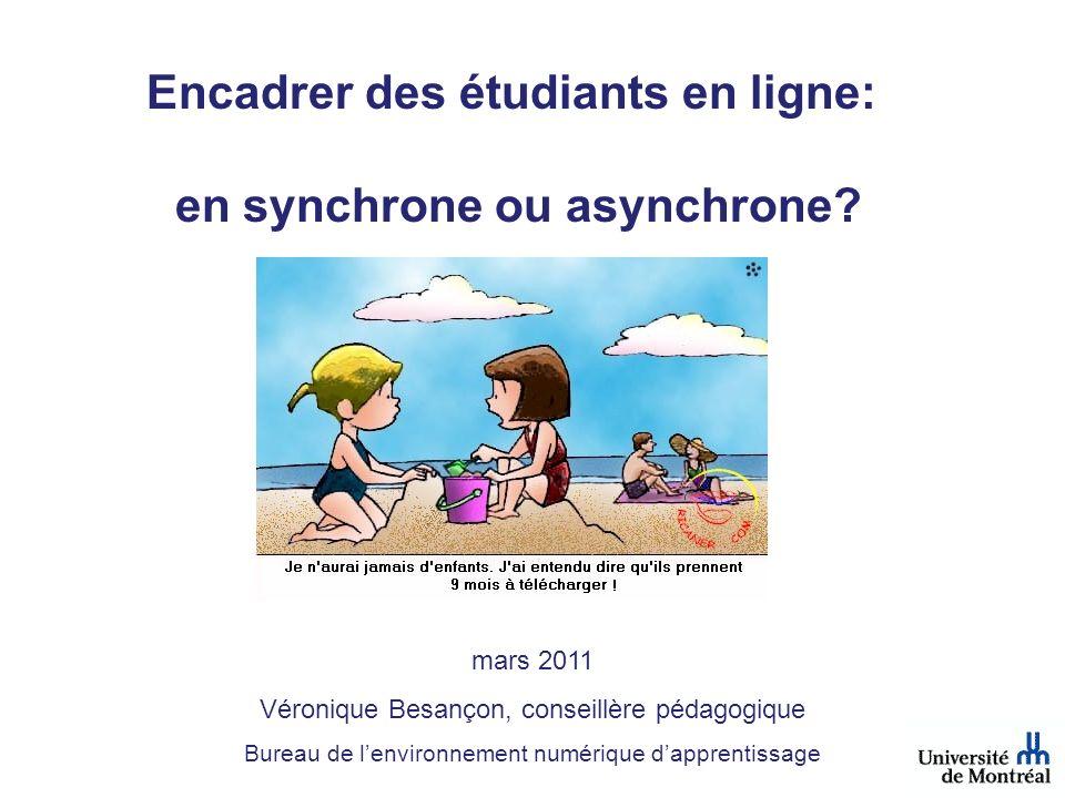 Encadrer des étudiants en ligne: en synchrone ou asynchrone