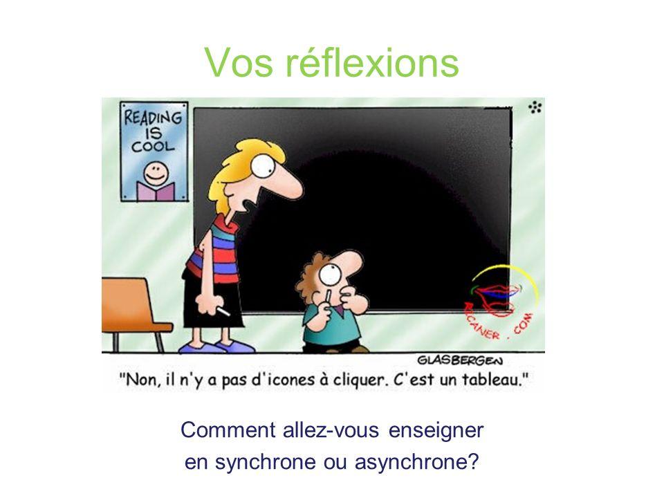 Comment allez-vous enseigner en synchrone ou asynchrone