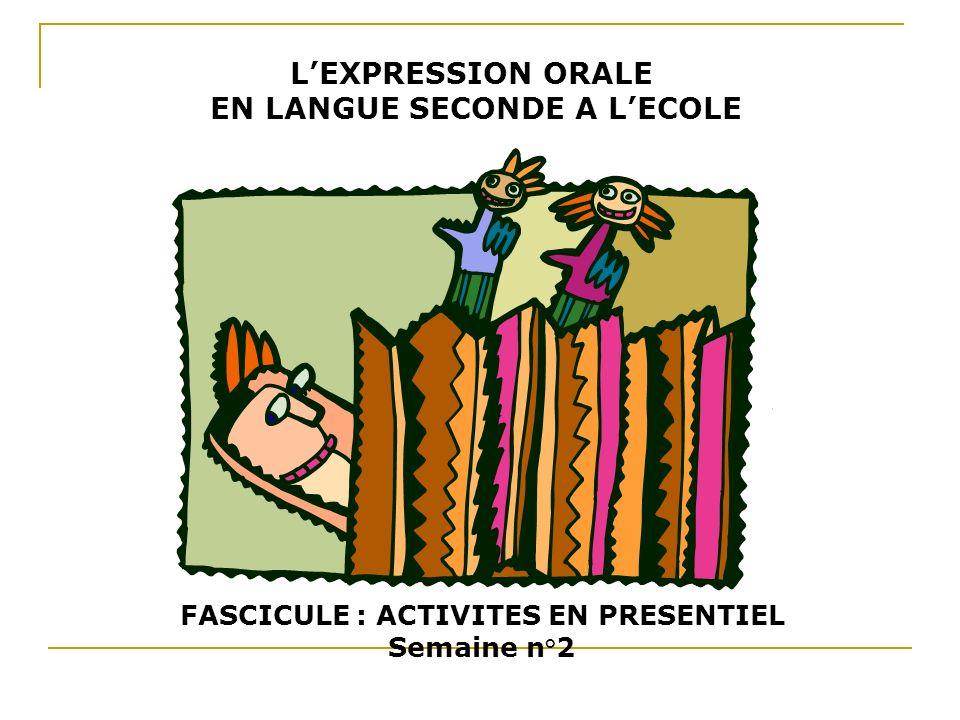 FASCICULE : ACTIVITES EN PRESENTIEL