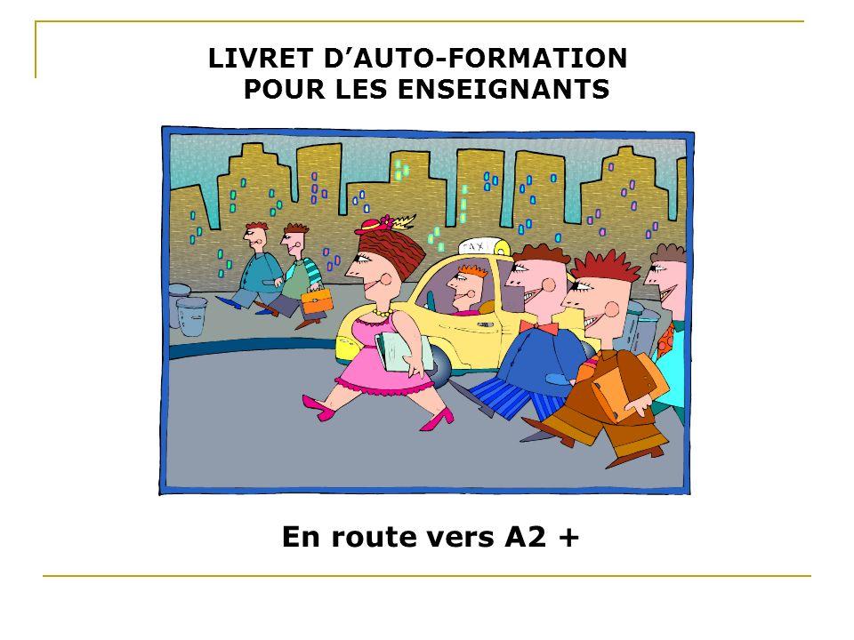 LIVRET D'AUTO-FORMATION