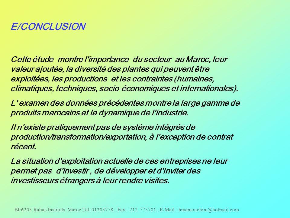 E/CONCLUSION