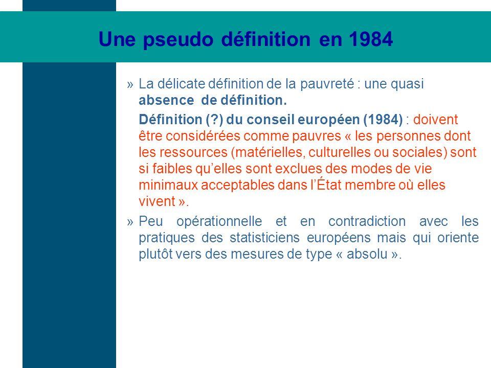 Une pseudo définition en 1984