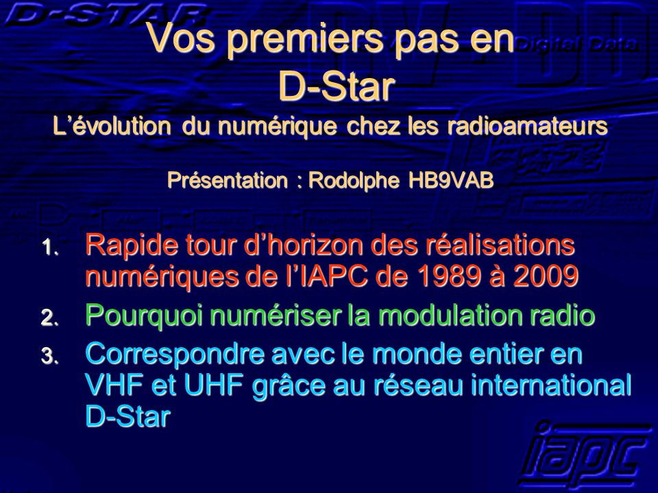 Pourquoi numériser la modulation radio