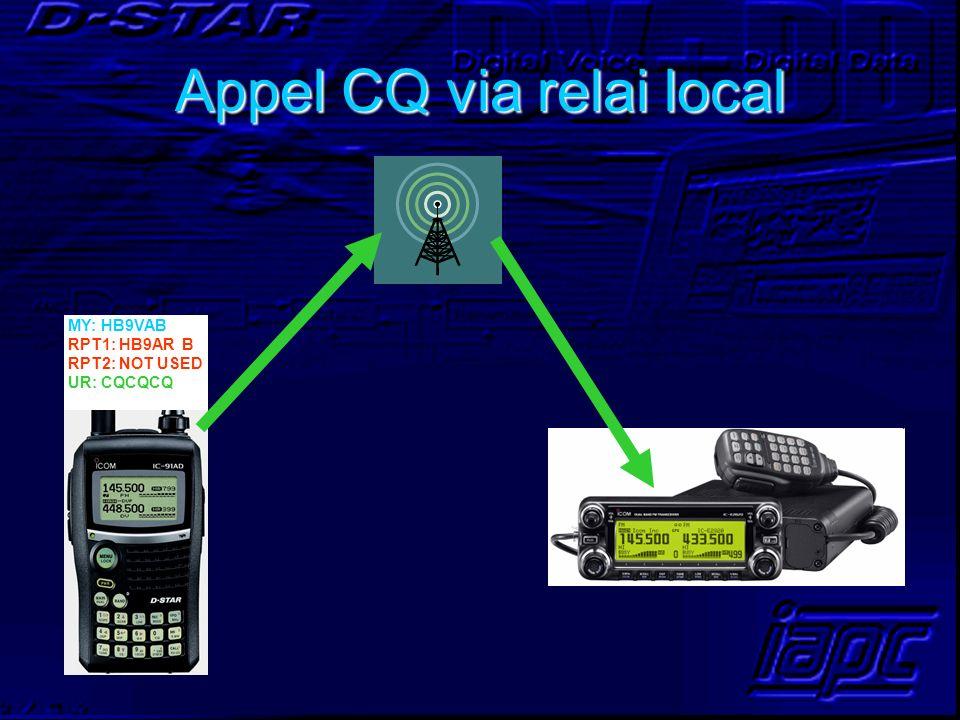 Appel CQ via relai local