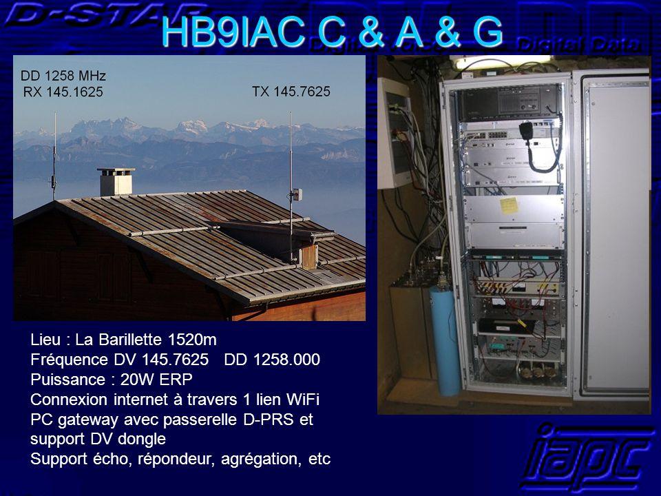 HB9IAC C & A & G Lieu : La Barillette 1520m