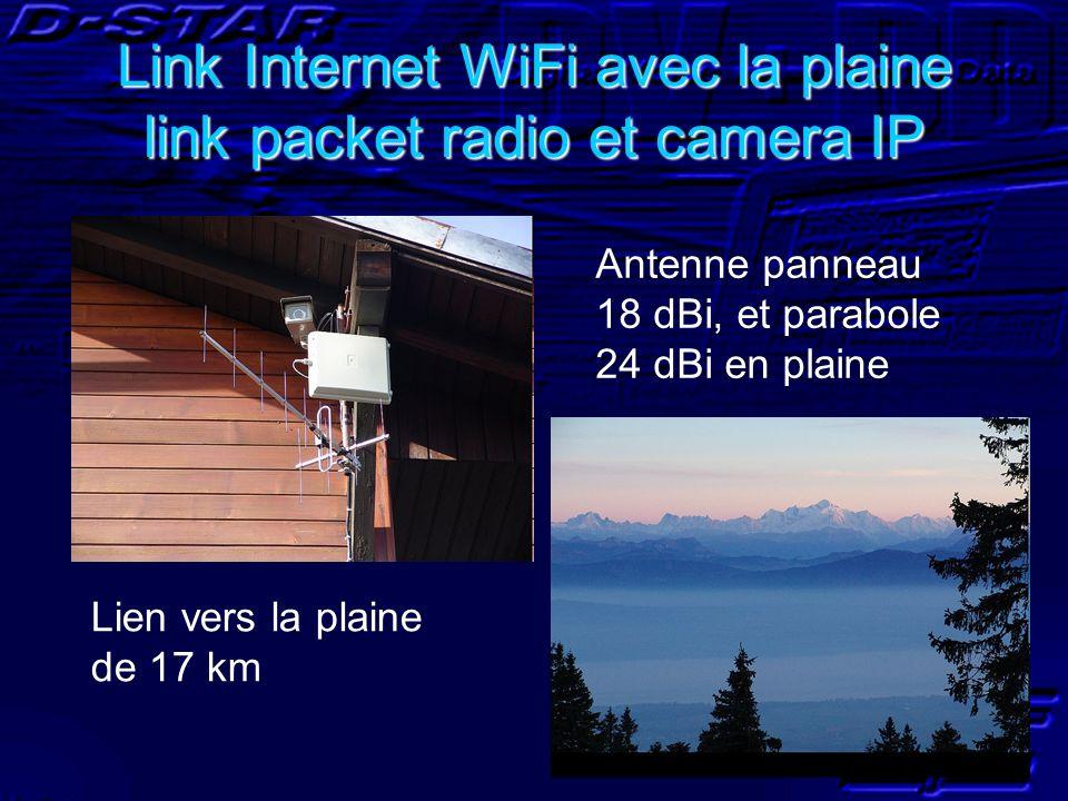 Link Internet WiFi avec la plaine link packet radio et camera IP