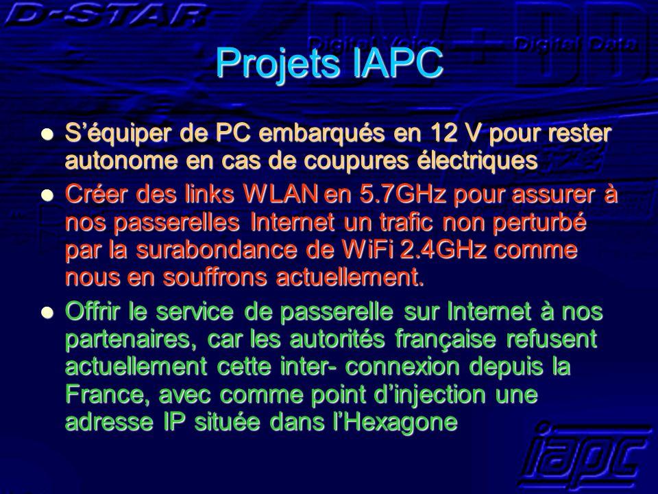 Projets IAPC S'équiper de PC embarqués en 12 V pour rester autonome en cas de coupures électriques.