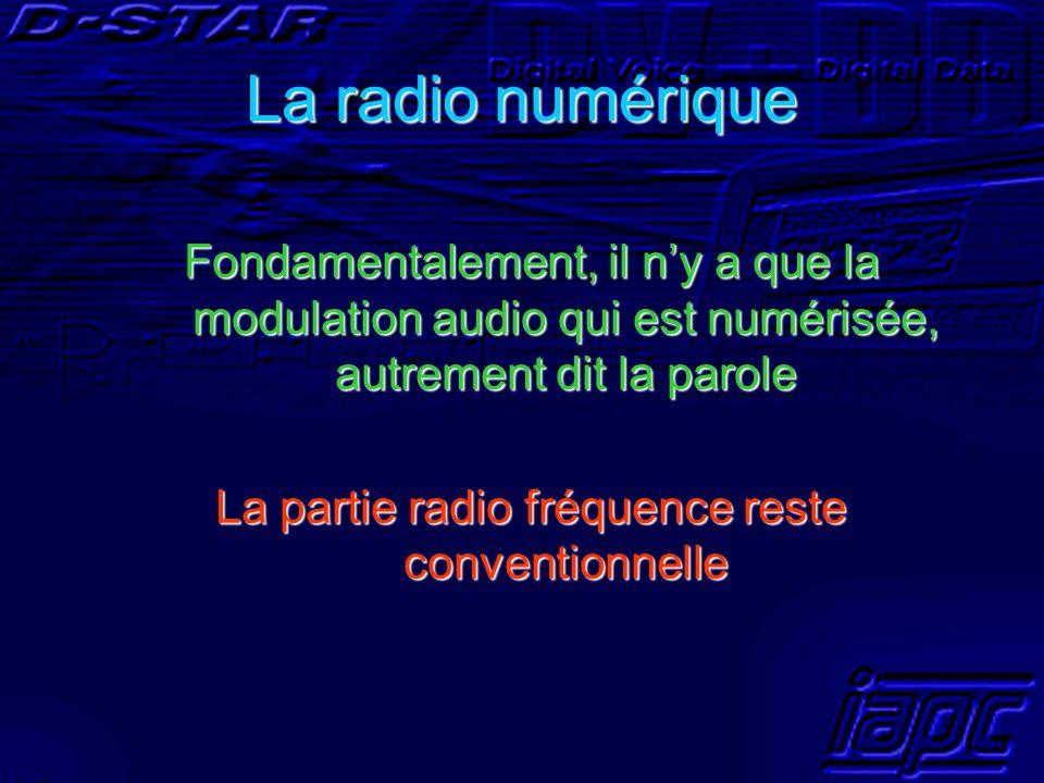 La partie radio fréquence reste conventionnelle
