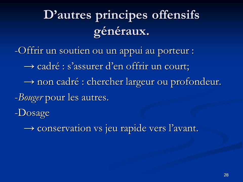 D'autres principes offensifs généraux.