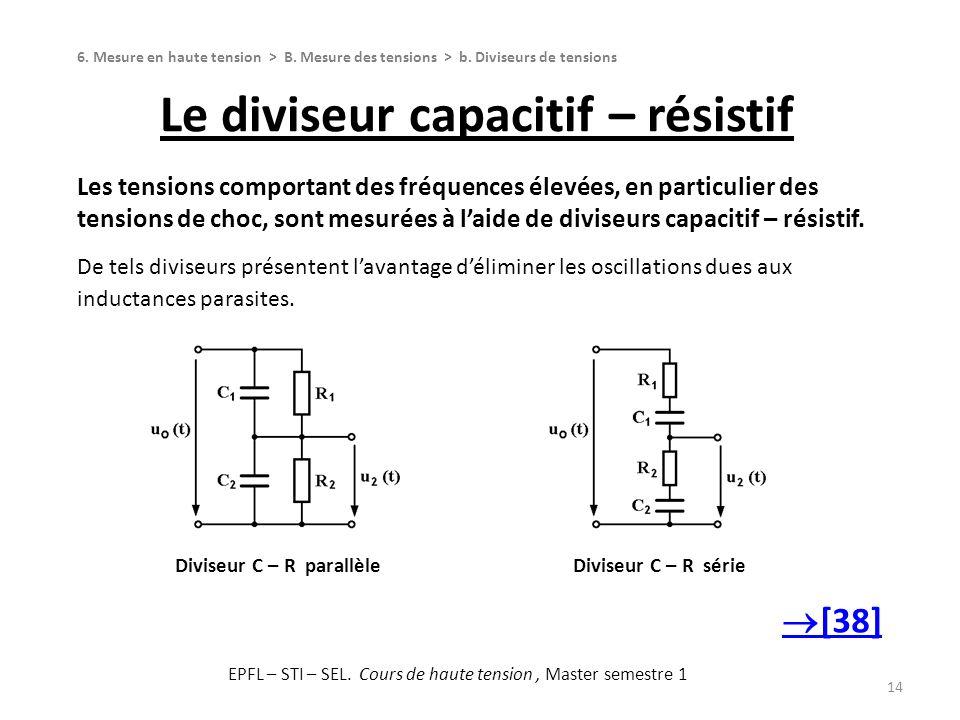 Le diviseur capacitif – résistif
