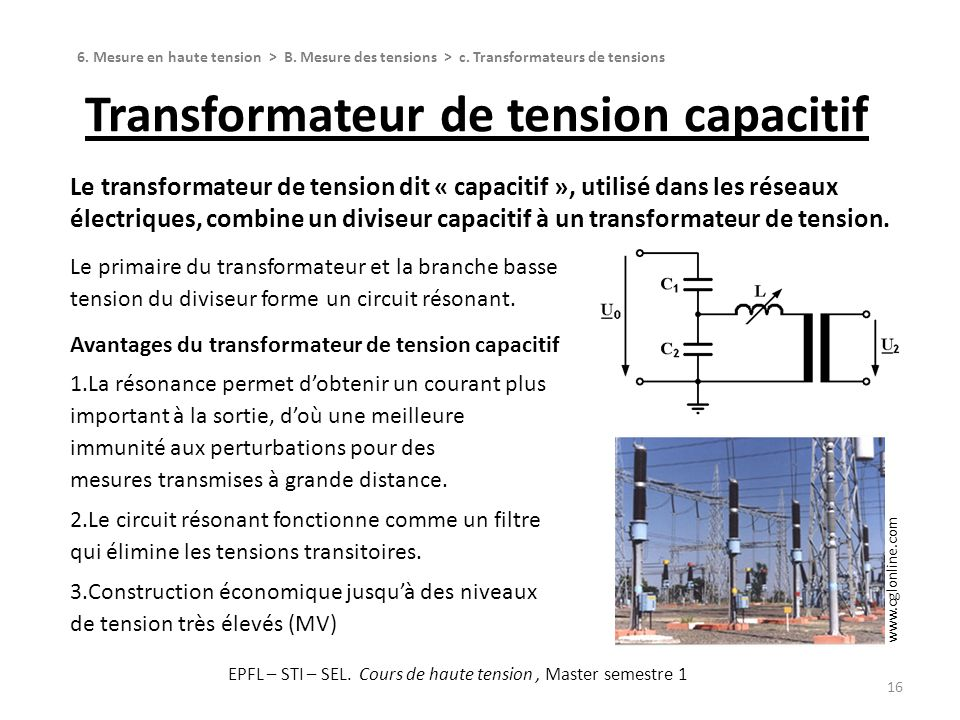 Transformateur de tension capacitif