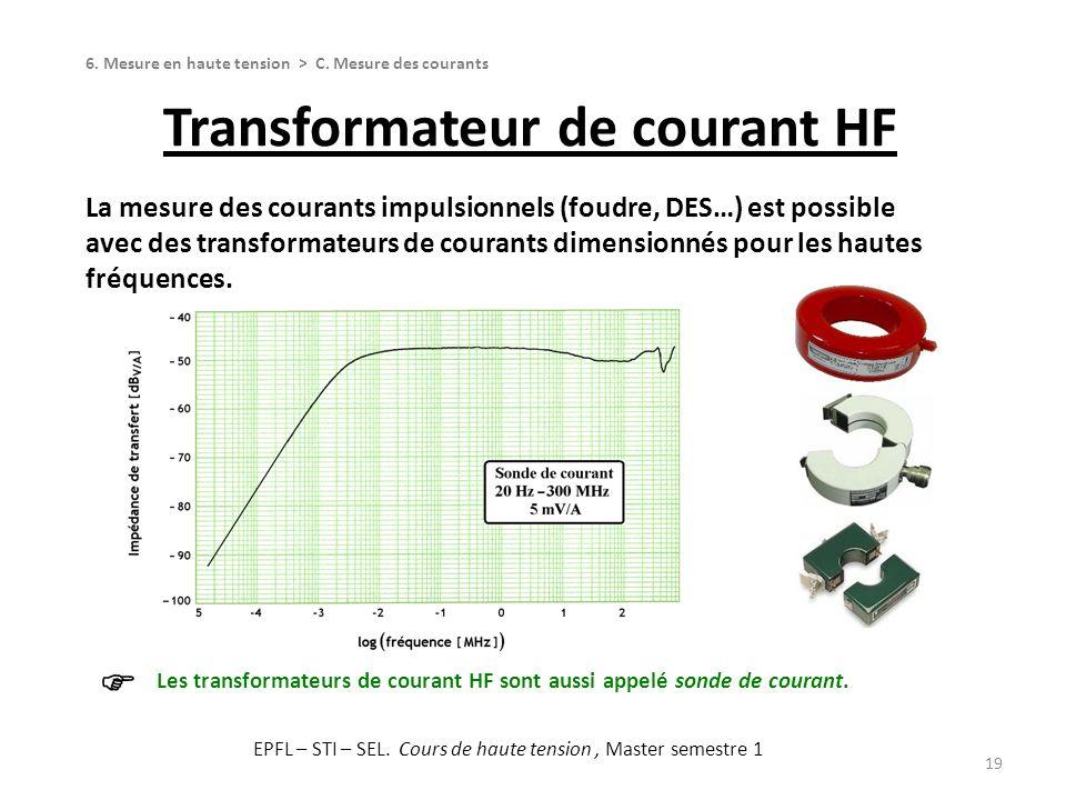 Transformateur de courant HF