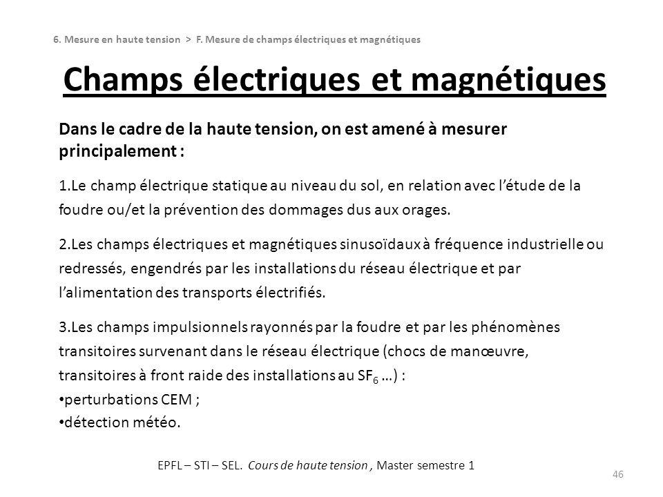 Champs électriques et magnétiques