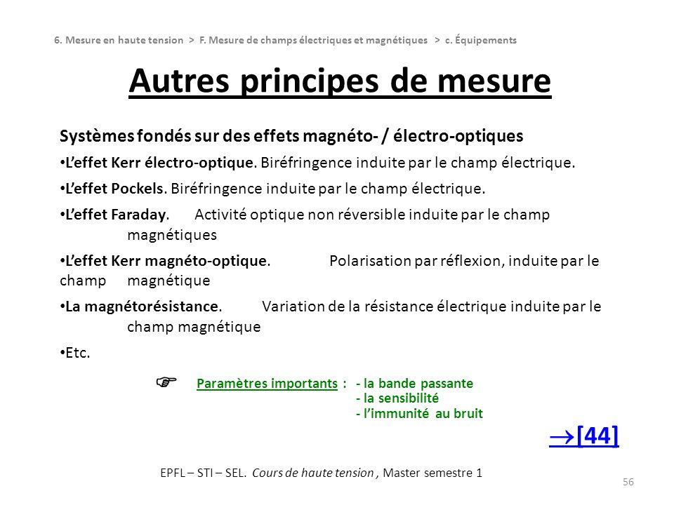 Autres principes de mesure