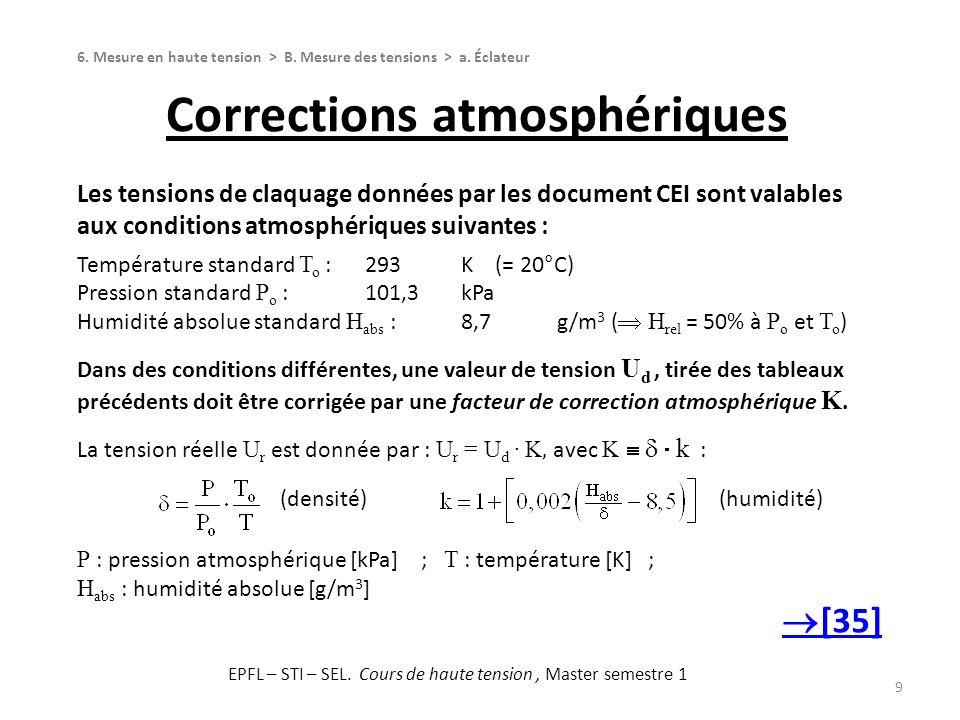 Corrections atmosphériques