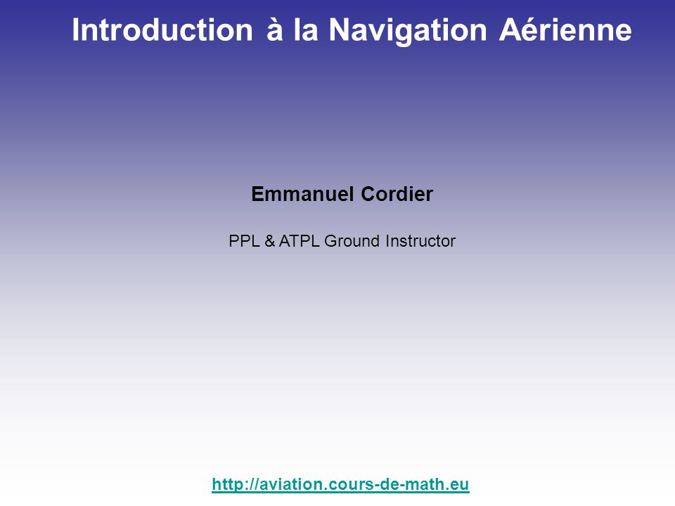 Introduction à la Navigation Aérienne