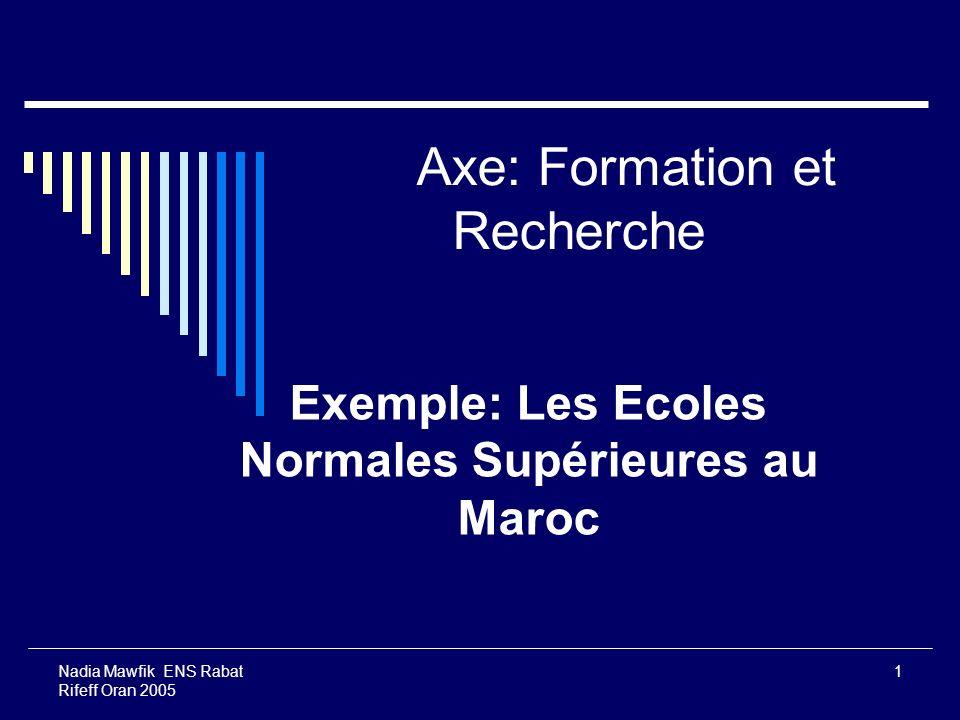 Axe: Formation et Recherche