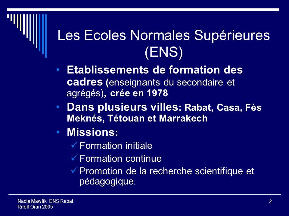 Les Ecoles Normales Supérieures (ENS)