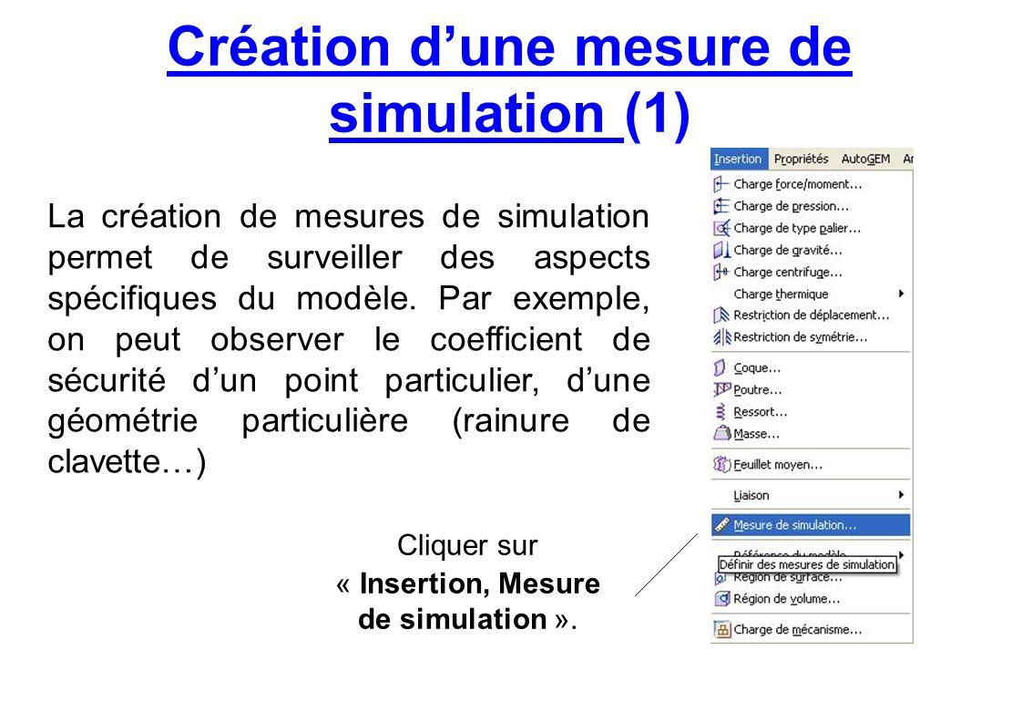 Création d'une mesure de simulation (1)