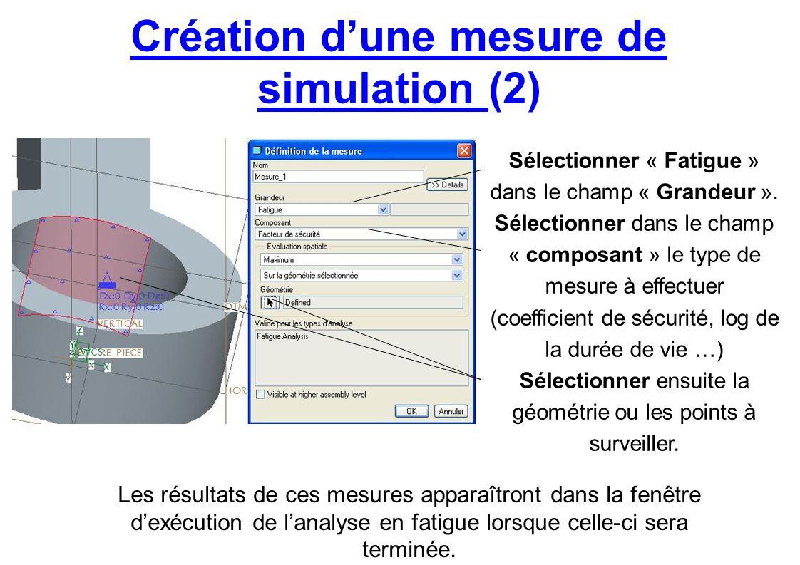 Création d'une mesure de simulation (2)