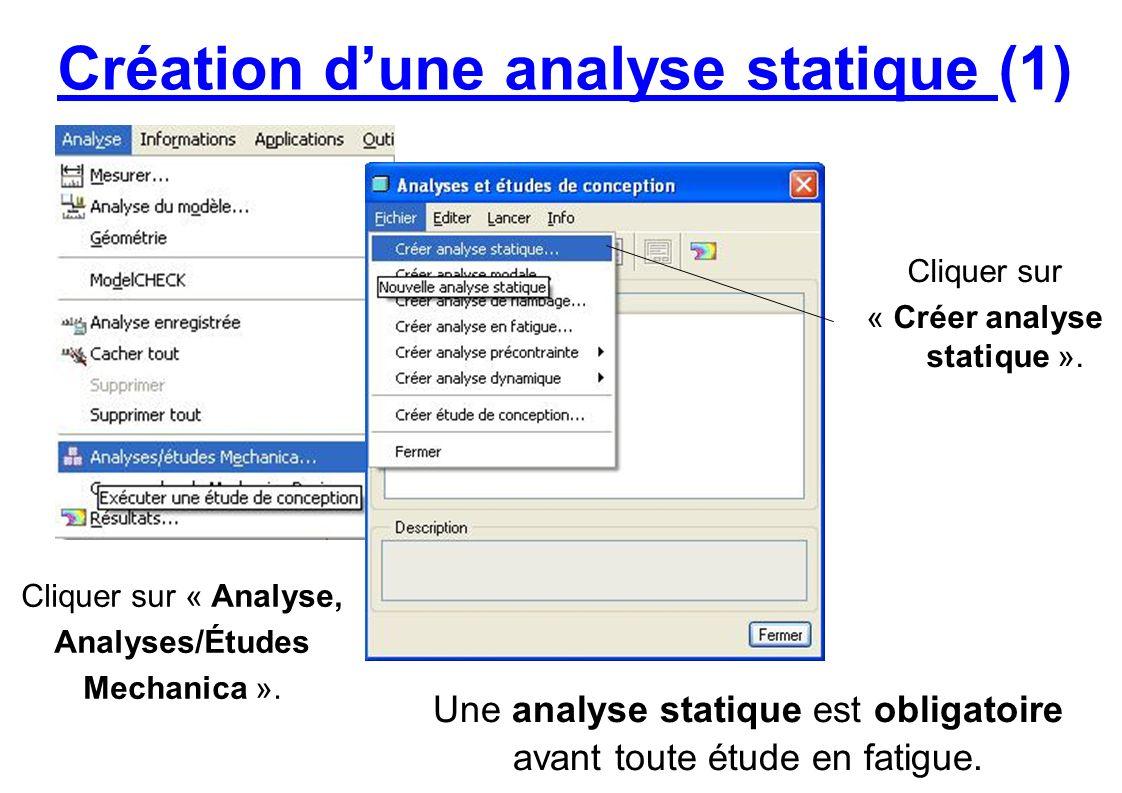 Création d'une analyse statique (1)