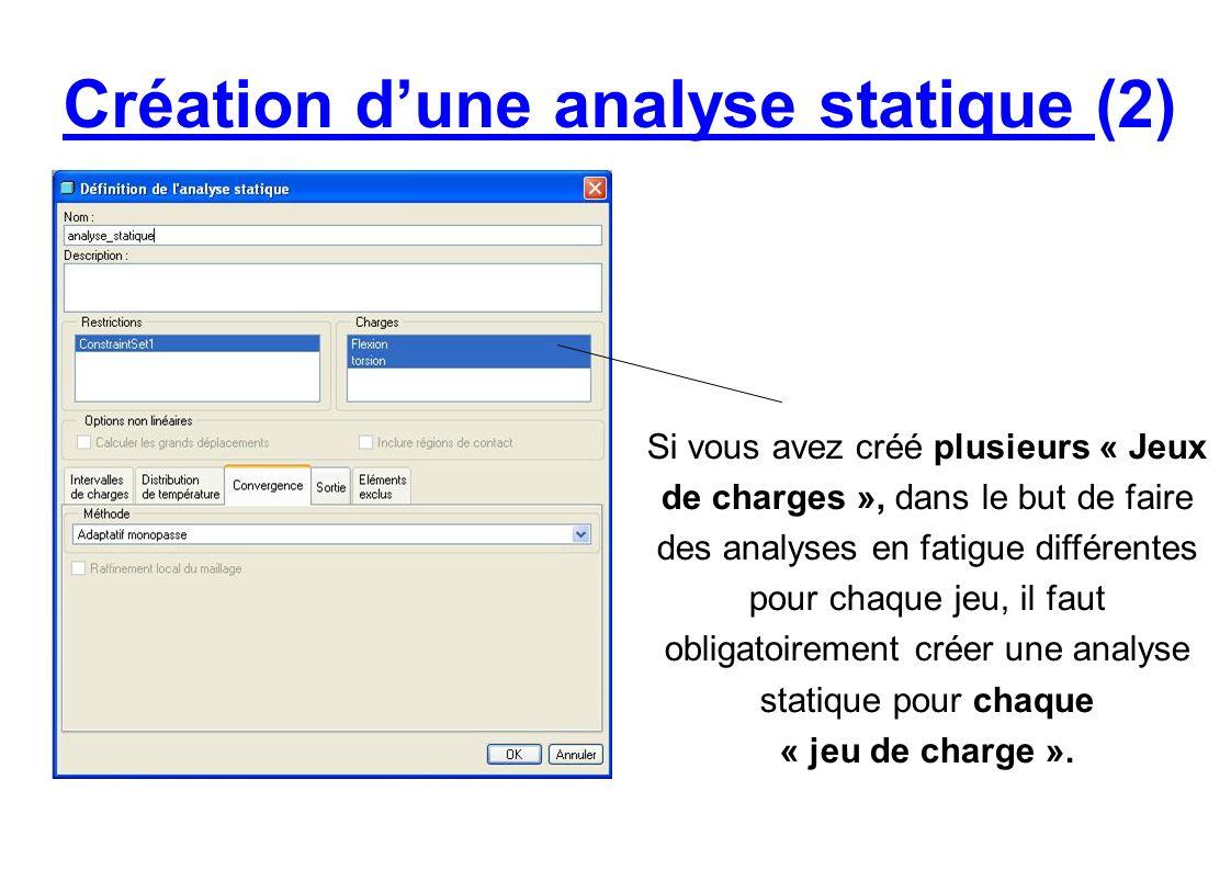 Création d'une analyse statique (2)