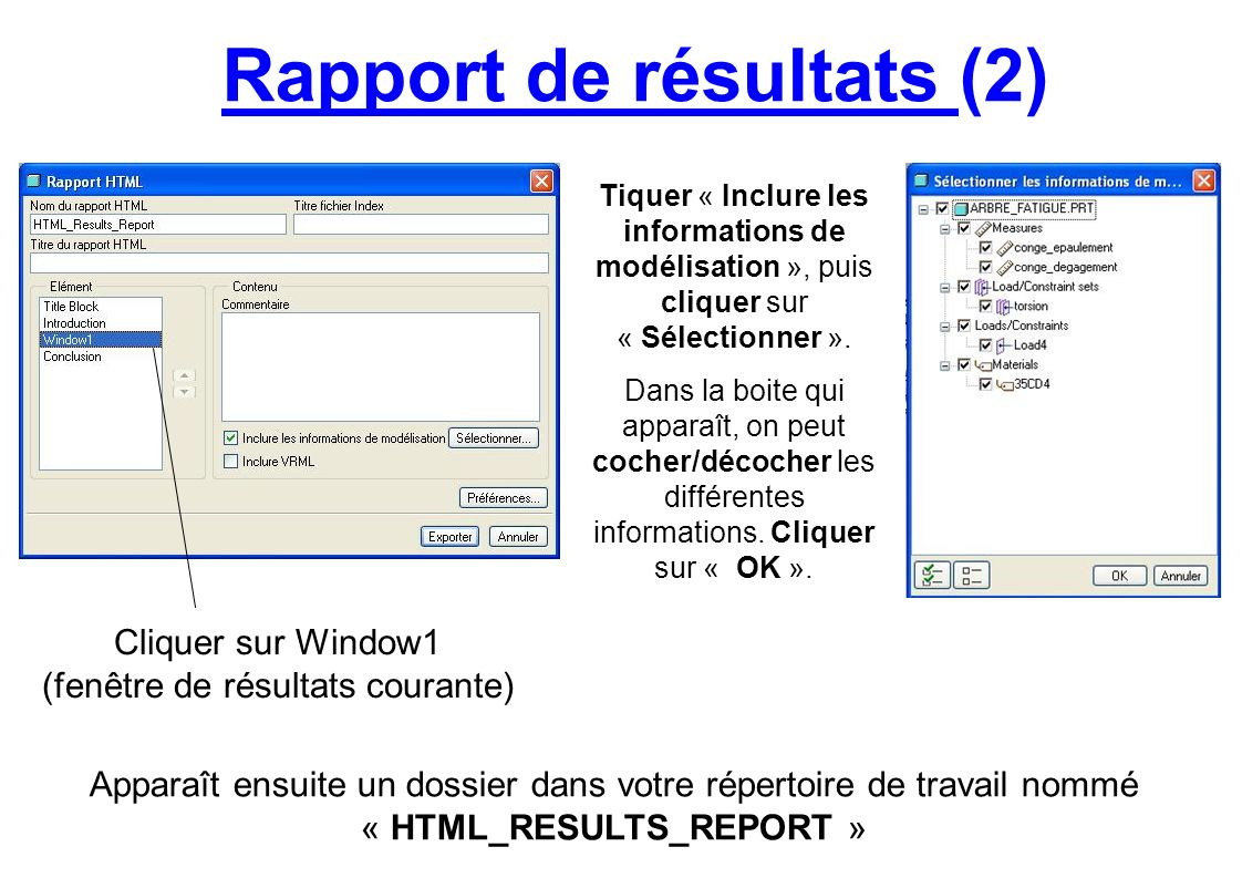 Rapport de résultats (2)